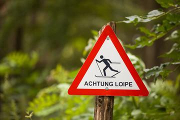 Achtung Ski Loipe