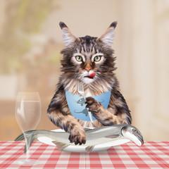 Katze ist Fisch