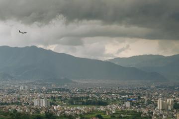 Cloudy Kathmandu Valley