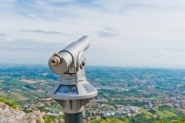 View from San Marino fortress - Adriatic Coast, Italy