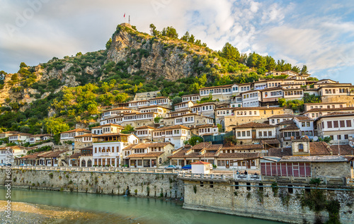 Fotobehang Oost Europa View at old city of Berat