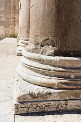 base of columns, Pantheon Rome, Rome, Rome Province, Lazio, Ita