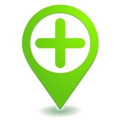 ajouter sur symbole localisation vert