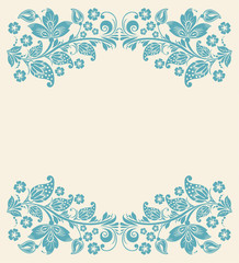 Abstract floral background. seamless lace
