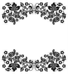 Vector floral background. Russian traditional ornament Hohloma.