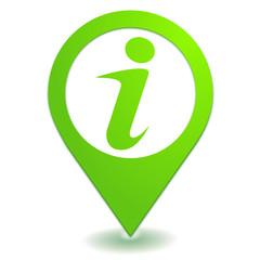 informations sur symbole localisation vert