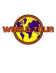 World tour vector emblem