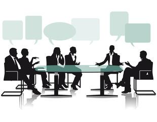 Debattieren und Diskussionen im Büro