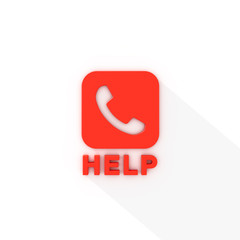 Help Center Red Phone Logo