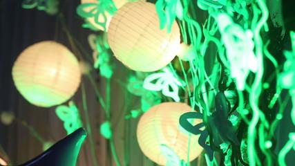 Chinese lanterns on wedding