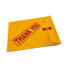 thank you on manila envelope