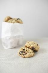 Haferflocken Cookies mit Cranberries und weißer Schokolade