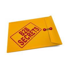 B2B secrets on manila envelope