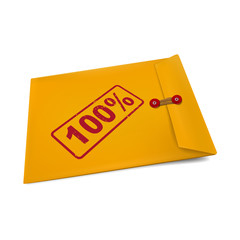 100 percent on manila envelope