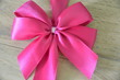 canvas print picture - Geschenkband Schleife Pink