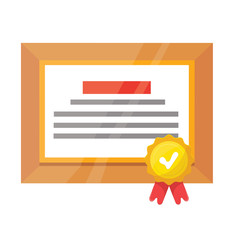 Vector Certificate Flat Icon