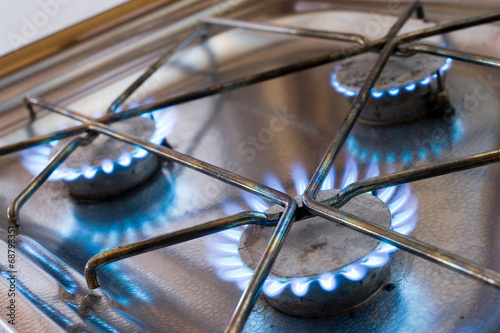 canvas print picture Gas stove