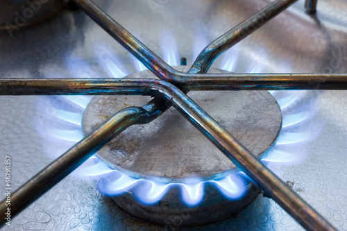 canvas print picture Gas stove
