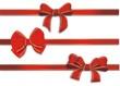 3 rote Schleifen