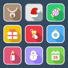 flat christmas iconset 1