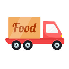 Vector Food Delivery Car Icon