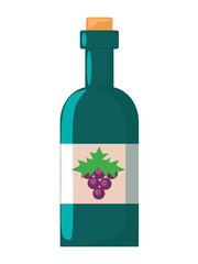 Vector Flat Bottle of Wine Icon
