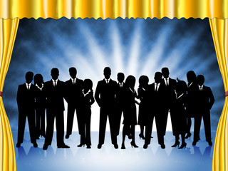 Business People Represents Professional Executive And Team