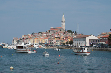 Old town architecture of Rovinj, Croatia.