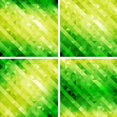 retro style geometric pattern,go green