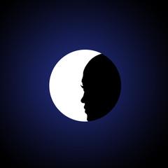 fille à la Lune