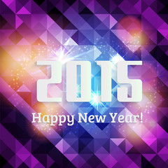 Happy new year 2015,vibrant colorful background