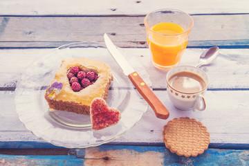 romantic breakfast, vintage edition