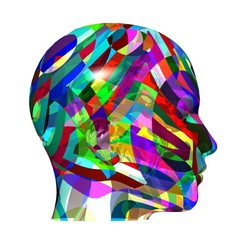 Kopf farbig