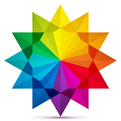 Color wheel icon in star shape