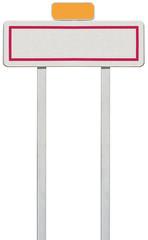 panneau de signalisation d'entrée de ville
