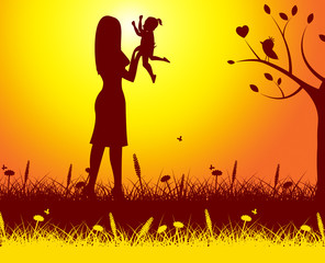 Mother Nature Means Rural Kid And Mom