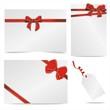 edle Geschenkkarten mit Schleife