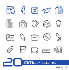 Office and Business Icons // Line Series