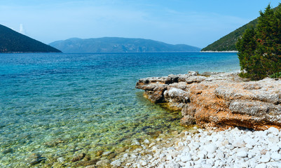 Antisamos beach summer view (Greece,  Kefalonia).