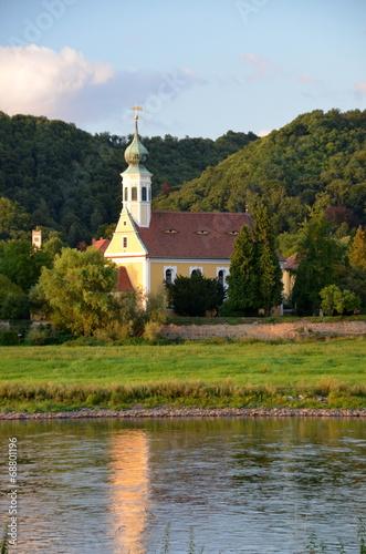 canvas print picture Blick zur Kirche Maria am Wasser
