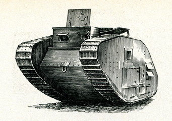 "British tank ""Mark IV"" (1917)"