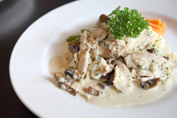 Chicken Scallopini white sauce