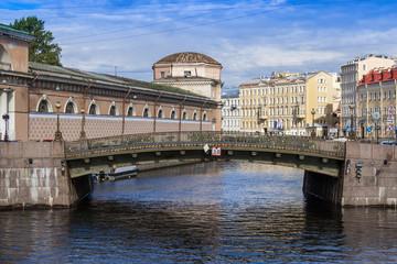 St. Petersburg, Russia. Bridge via the channel