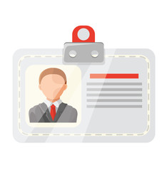Vector Identification Card Flat Icon