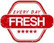 Zdjęcia na płótnie, fototapety, obrazy : fresh every day stamp