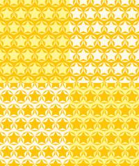 Set of seamless patterns of stars.