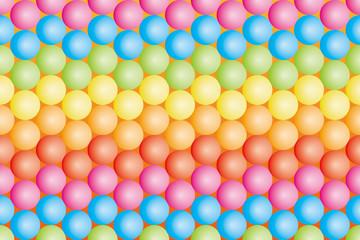 背景素材壁紙(虹色のカラーボール, 虹, 虹色, レインボー, 七色)
