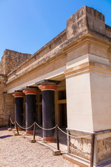 Black colonnade of Knossos