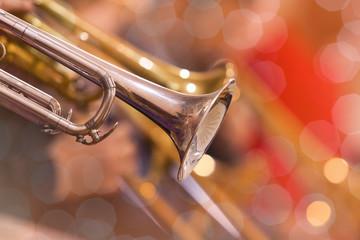Detail of trumpet closeup