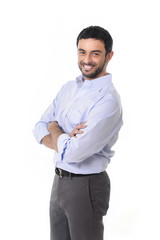 young attractive business man folded arms corporate portrait